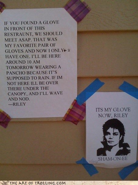 gloves lost and found michael jackson poster - 3779901184