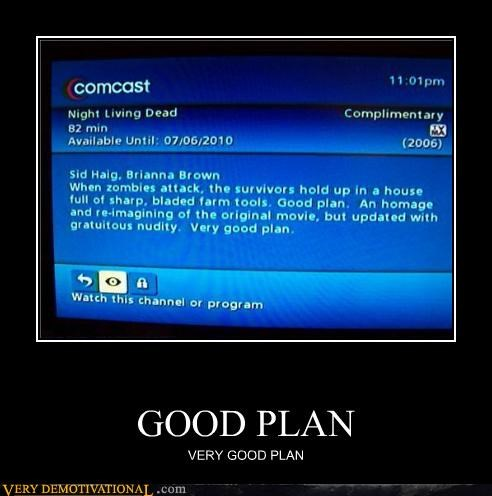 cable,comcast,good plan,hilarious,TV,wtf,zombie