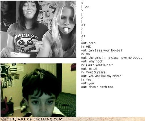 Chat Roulette grow up so fast kid sister starting young - 3781915904