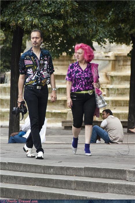 clash of the patterns i-cant-hear-you-over-your-shirt pink hair - 3782683136