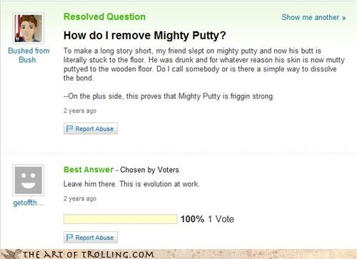 Billy Mays Here facepalm idiot mighty putty Yahoo Answer Fails - 3782761984