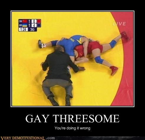 GAY 3SOME You're doing it wrong