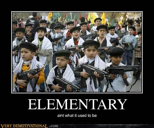 child soldiers guns kids school Terrifying