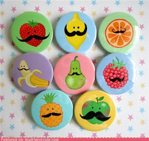cute pins,Jewelry,mustaches,pins