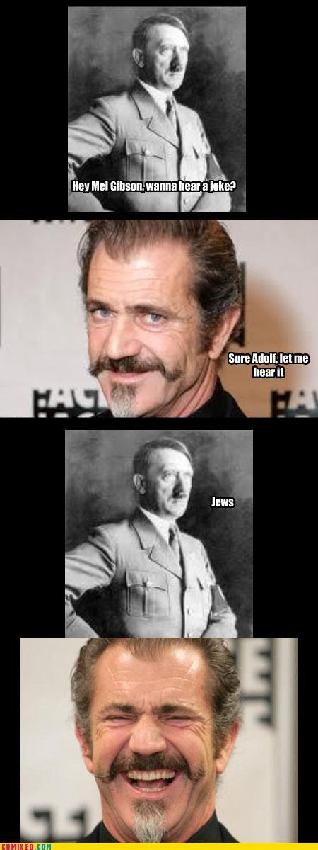 anti-semitism,celebutard,hitler,jk,mel gibson
