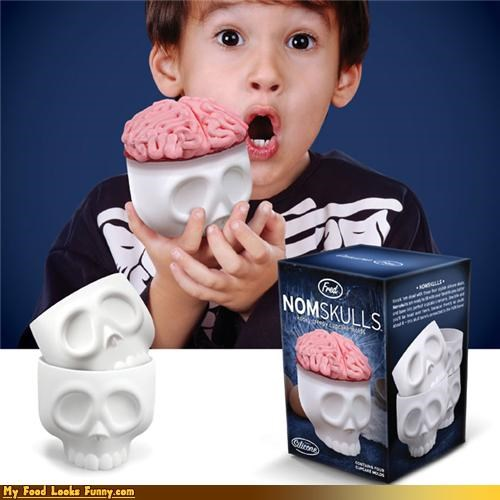 brains cupcakes liners Nomskulls real skulls Sweet Treats