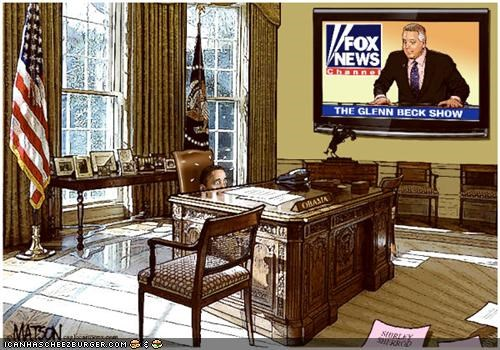 barack obama cartoons fox news glenn beck politics - 3787259648