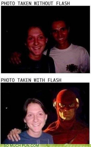 cell phone flash iphone puns superhero - 3787618560