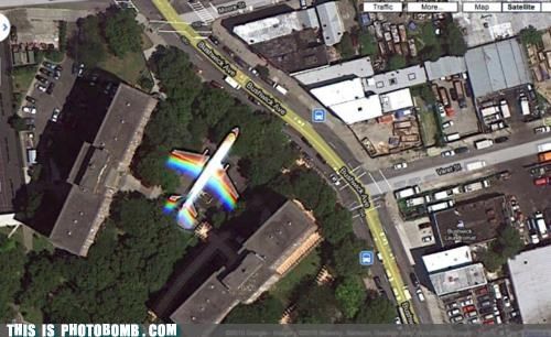 airplane,awesome,double rainbow,google maps,jet