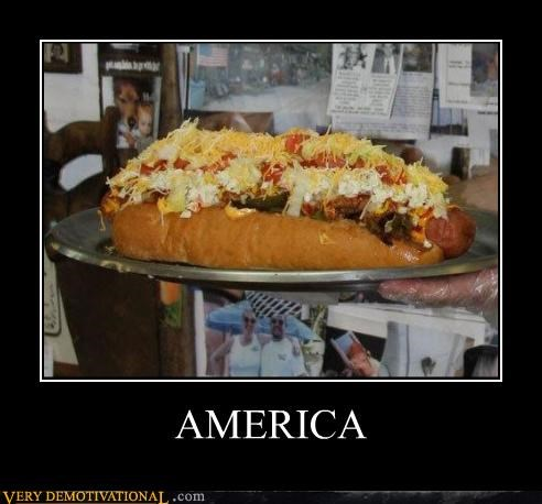 america,awesome,cheese,gross,hot dog,Pure Awesome,Sad,the jungle,this is why your fat