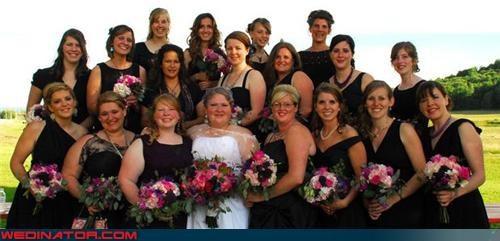 18 bridesmaids picture bride entourage Crazy Brides fashion is my passion funny bridesmaids picture funny wedding picture hella bridesmaids too many bridesmaids wedding party wtf - 3790108416