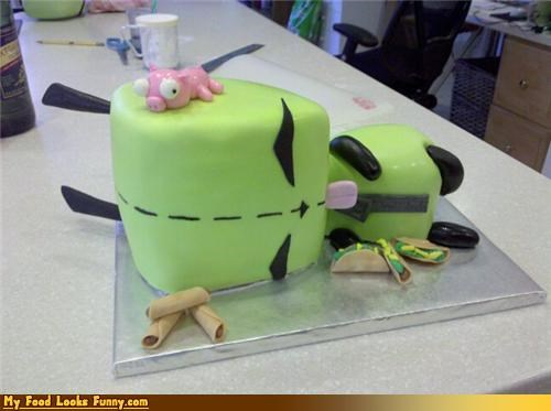 animation,cake,cartoons,GIR,Invader Zim,nickelodeon,Sweet Treats,television,TV,zim