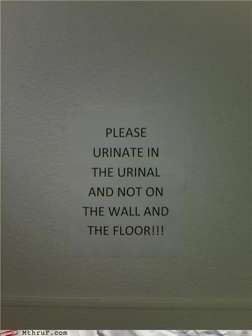 Men's Urinal Fail