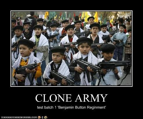 CLONE ARMY test batch 1 'Benjamin Button Reginment'