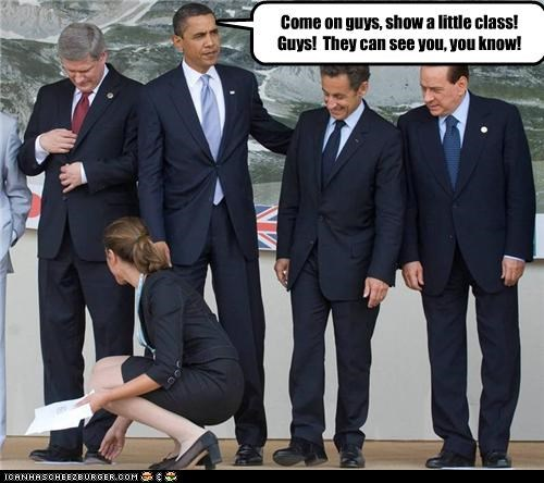 barack obama funny group scene lolz Nicolas Sarkozy silvio berlusconi - 3796137472