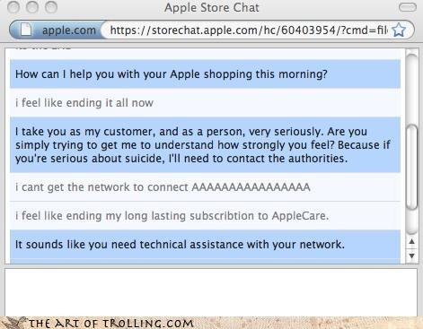apple customer service jump to conclusions suicide