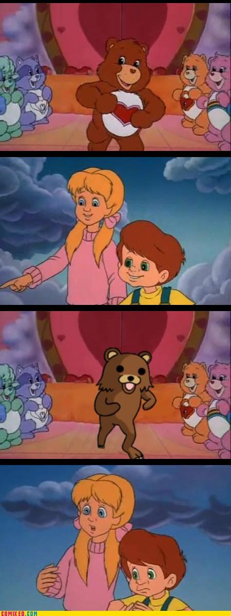 care bears,cartoons,danger,pedobear,warning