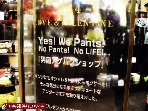 advertisement,pants,sign,store