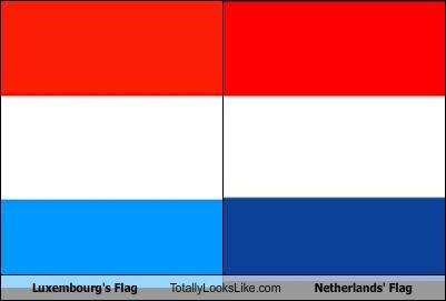 country flag luxembourg Netherlands - 3799671296