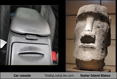 car console,Easter Island Statue