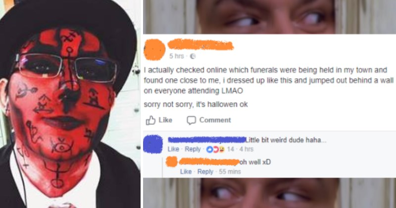 Guy dresses up and crashes a funeral - Utterly Insane Individuals Who Are Rampaging Through Facebook