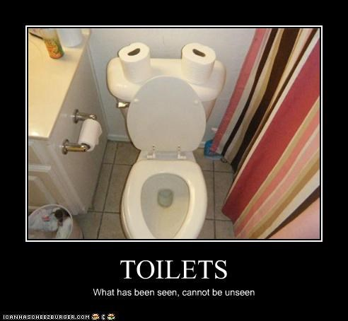 TOILETS What has been seen, cannot be unseen