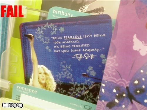 definition failboat fearless greeting card stupid taylor swift - 3800945664