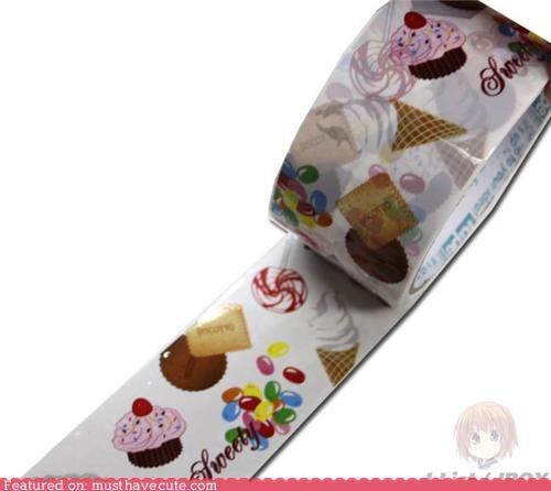 cute tape kawaii tape packing tape stationary - 3801370624