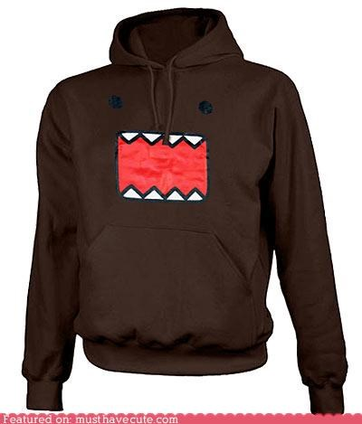 clothes clothing domo hoodie pullover - 3801408000