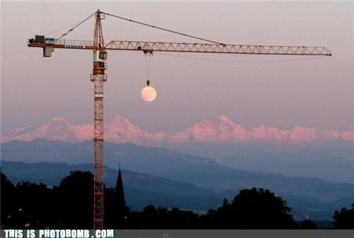 crane dusk good angle Moment Of Win moon