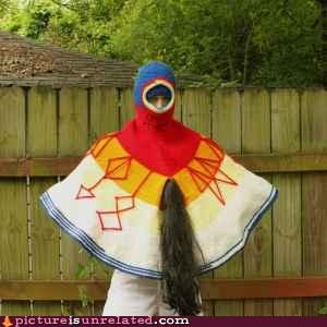 colorful creepy horse tail poncho wtf - 3801682944