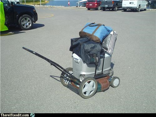 awesome cart cooler Kludge lawnmower recycling recycling-is-good-right - 3802744832