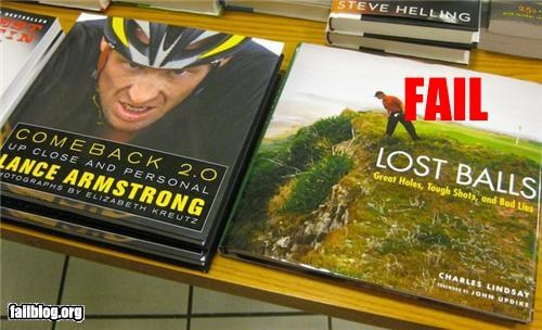 balls,bikes,books,failboat,Lance Armstrong,testicular cancer