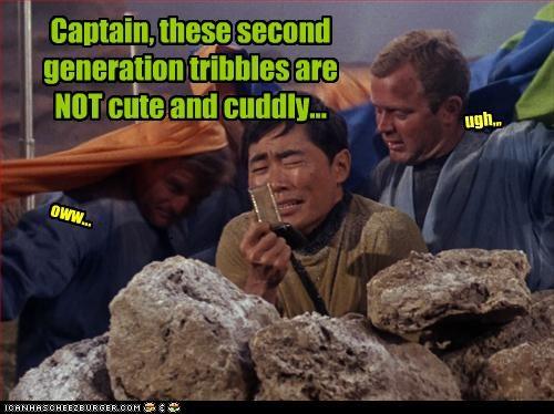 funny,george takei,sci fi,Star Trek,tribbles