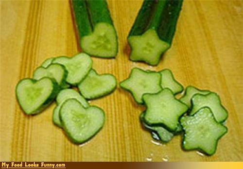cucumbers,fruits-veggies,hearts,rainbrow brite,slices,stars,vegetables