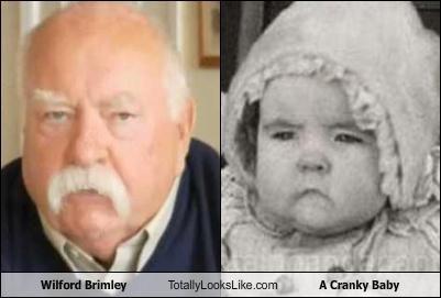 cranky baby,wilford brimley