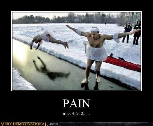 cross dressing FAIL ice ouch pain russia Sad snow - 3805095936
