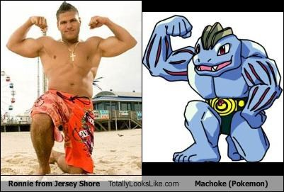 jersey shore,machoke,Pokémon,ronnie