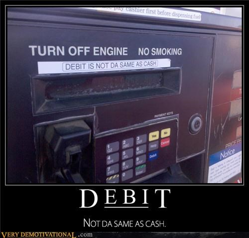 cash,credit cards,debit,gas,hilarious,modern living,pay to pump