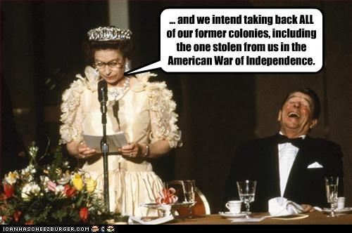 funny,lolz,Queen Elizabeth II,Ronald Reagan