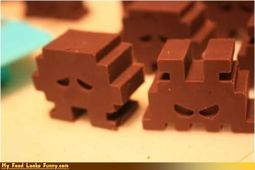 arcade candy chocolate old school space invaders Sweet Treats video games - 3806927360