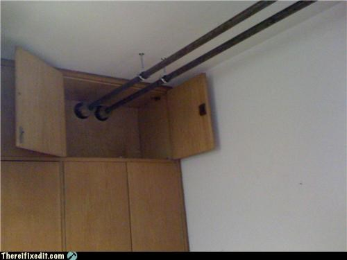 cabinet cant-close Kludge misplaced pipe