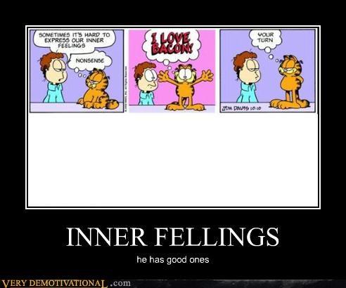 inner feelings garfield funny bacon - 3807973120