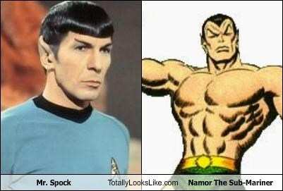 mr-spock,namor the sub-mariner