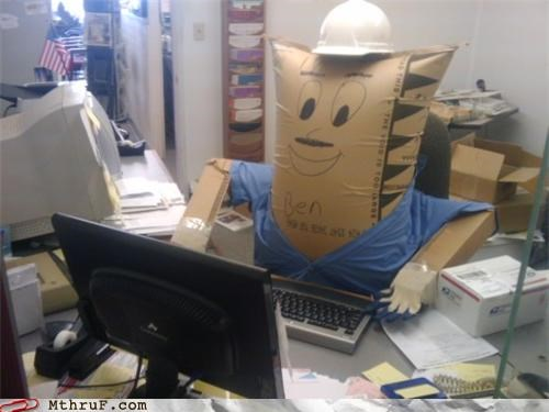 anthropomorphic awesome awesome co-workers not ben boredom creativity in the workplace cubicle boredom cubicle prank decoration decoy dickhead co-workers lazy management material mannequin personification replacement sculpture Terrifying weird work smarter not harder