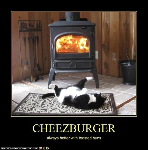 CHEEZBURGER always better with toasted buns
