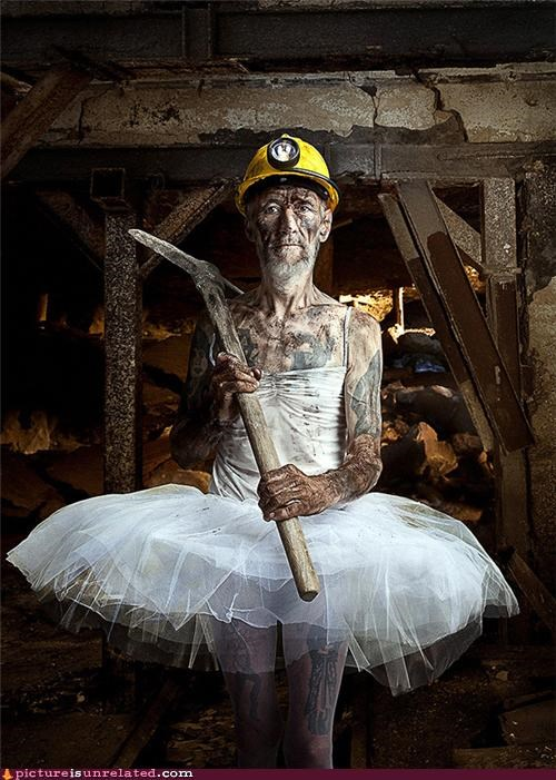creepy dress man miner tutu wtf - 3811890688