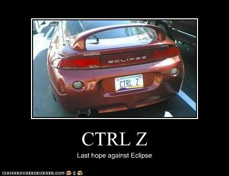 CTRL Z Last hope against Eclipse