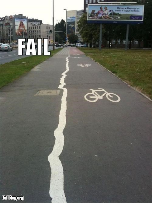 bicycles failboat lines paint paths streets