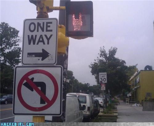 metal,one way,stop,street sign